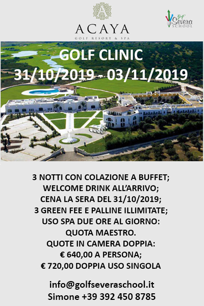 Golf Clinic Acaya Golf Resort Lecce