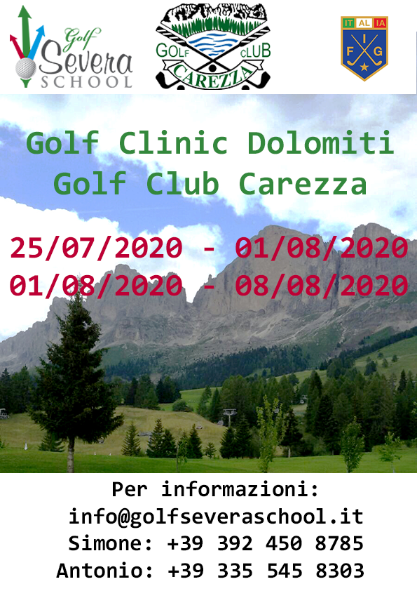 Golf Clinic Dolomiti 2020